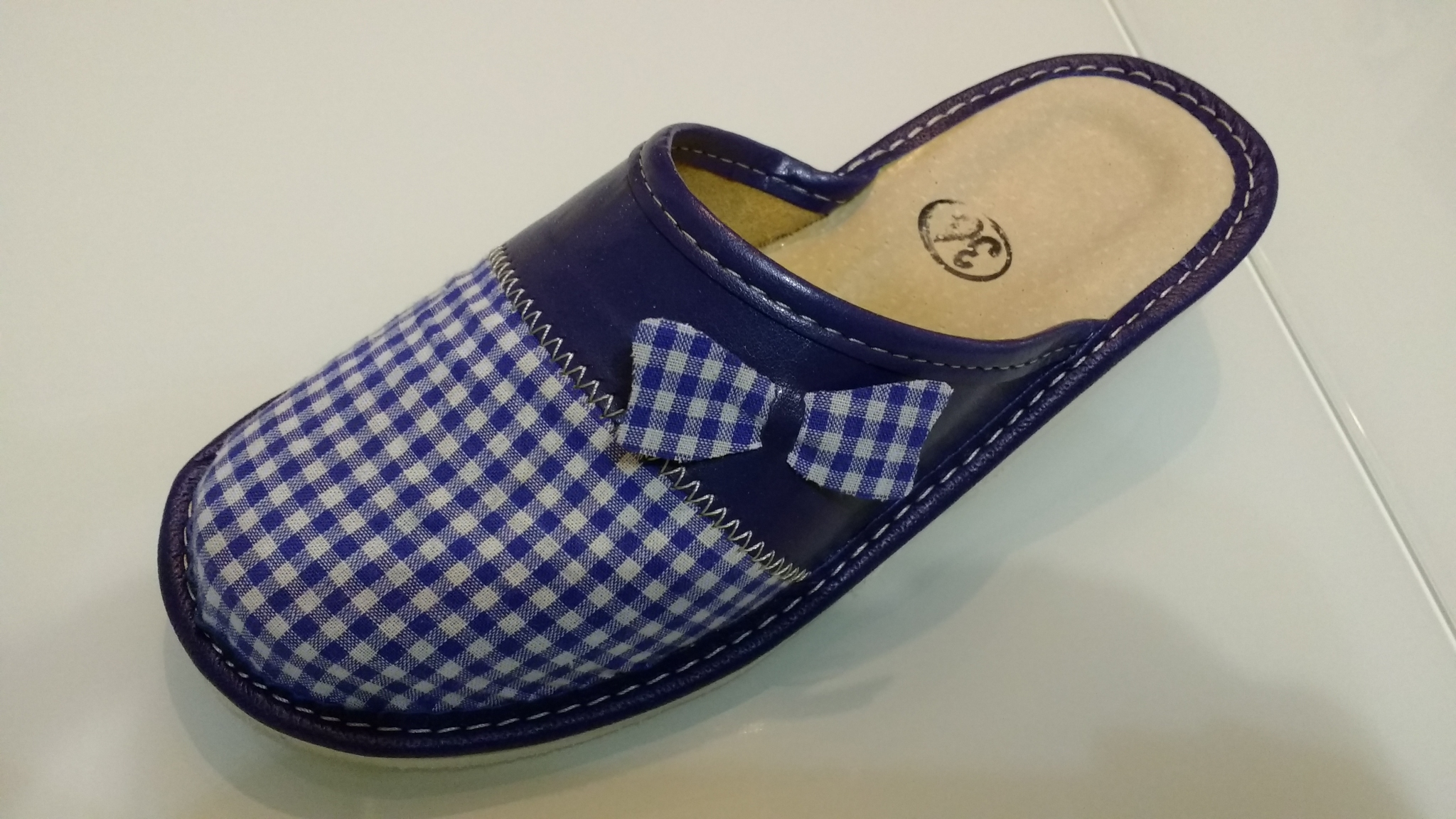 160-37 Обувь домашняя (Тапочки кожаные)