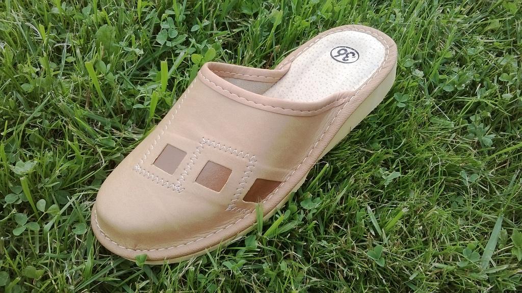 041-1-37  Обувь домашняя (Тапочки кожаные)