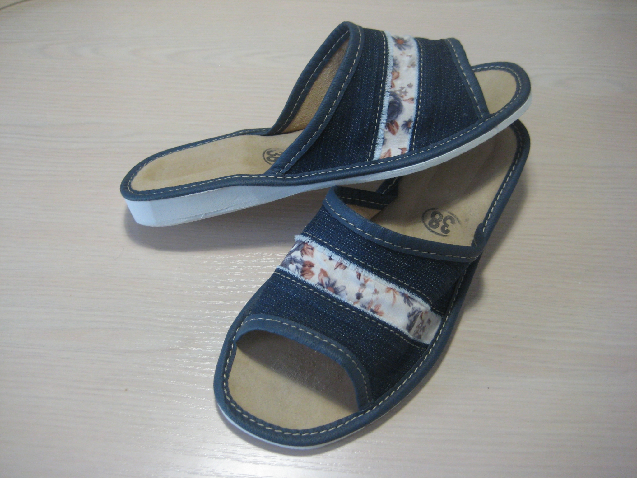 014-36  Обувь домашняя (Тапочки кожаные)