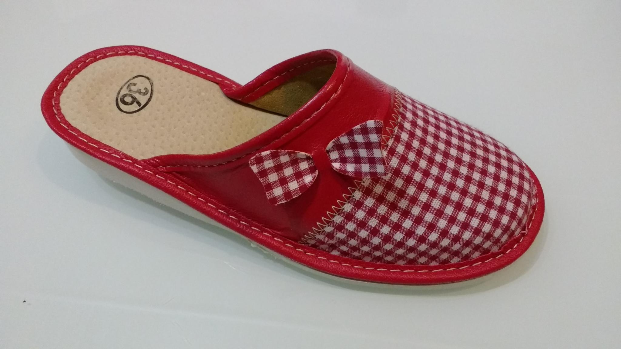 159-36 Обувь домашняя (Тапочки кожаные)