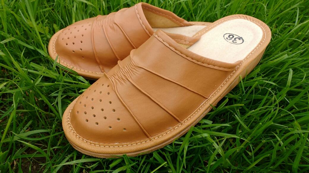 164-40 Обувь домашняя (Тапочки кожаные)