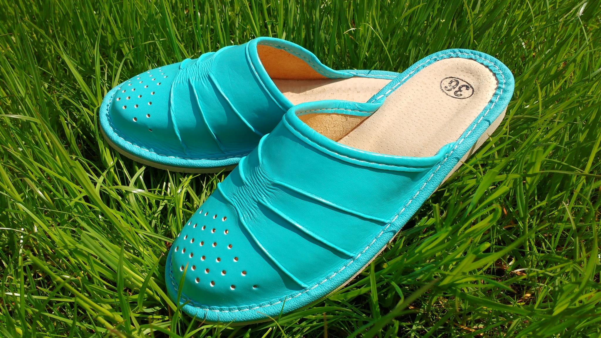 165-38 Обувь домашняя (Тапочки кожаные)
